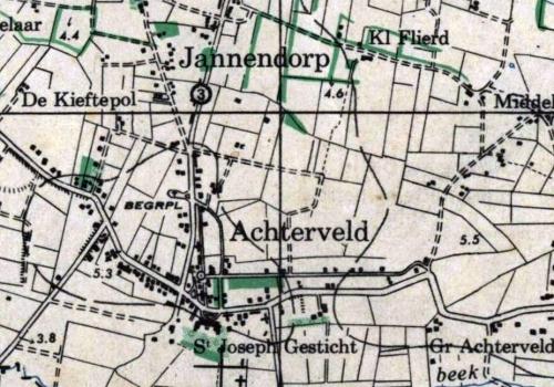 Achterveld geschiedenis kaart
