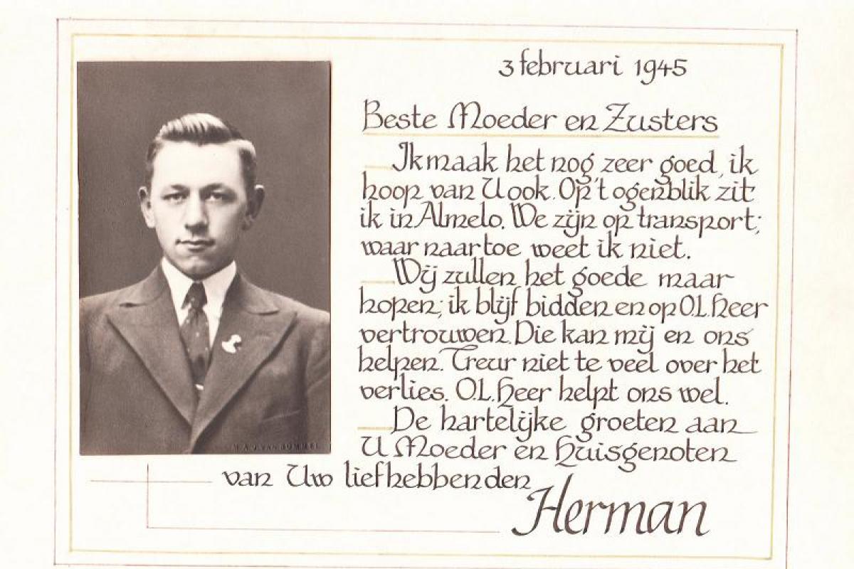 Kwaaie Gat brief Herman