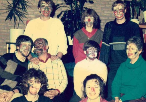 Team in actie Circusproject 1986