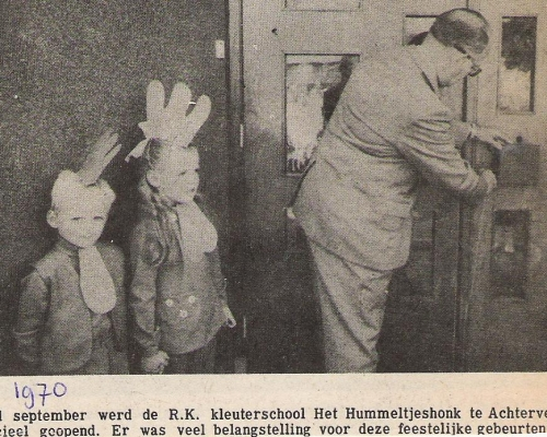 opening Hummeltjeshonk sept.1970