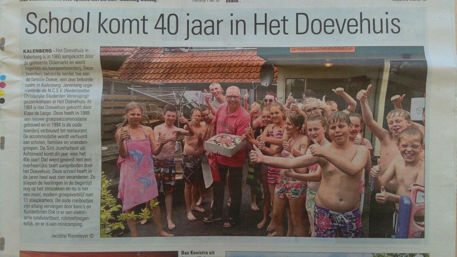 fun artikelen 40 jaar krant artikel 40 jaar Kalenberg 2016   Basisschool St. Jozef fun artikelen 40 jaar